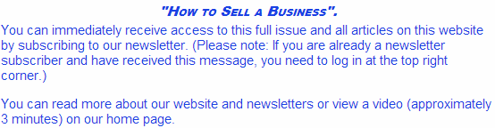 How to Sell a Business Subscribe